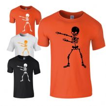 Flossing Skeleton Kids T-shirt - Halloween  Scary Kids Costume Fancy Dress Top